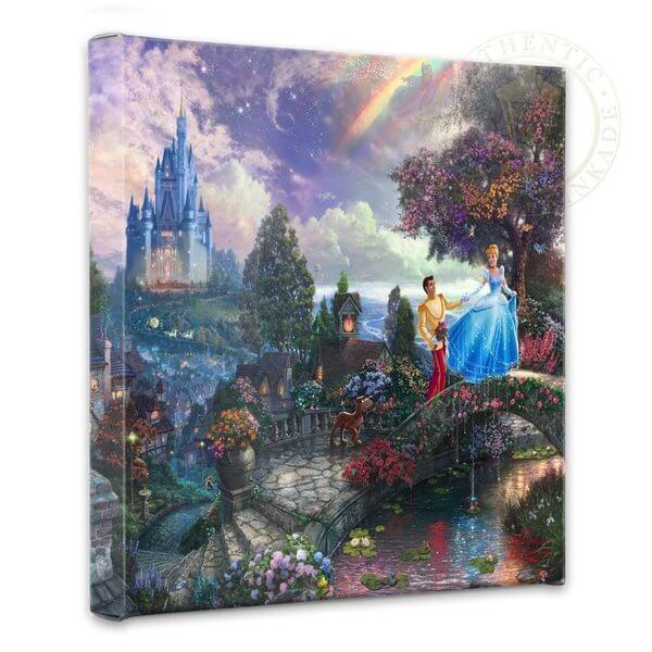 Cinderella Wishes Upon a Dream: Thomas Kinkade Disney Print