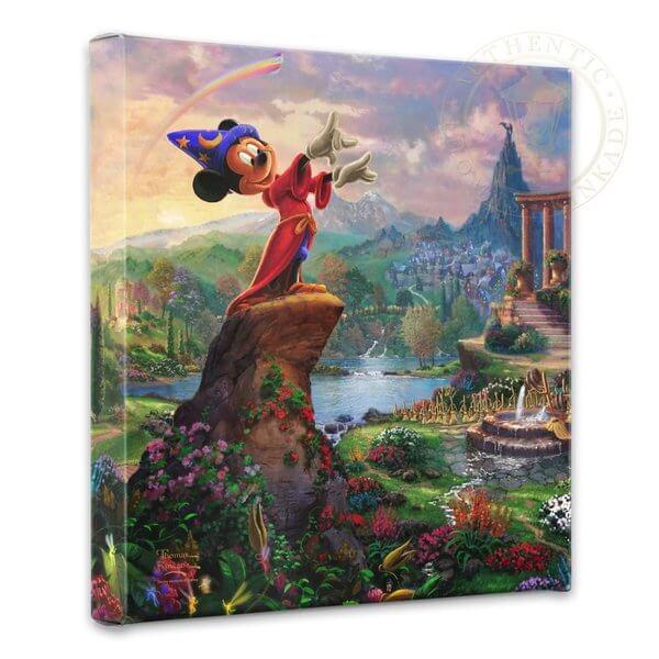 Fantasia & Mickey Mouse: Thomas Kinkade Disney Print