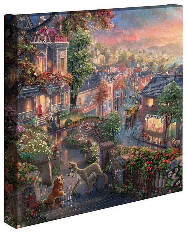 Lady & the Tramp: Thomas Kinkade Disney Print