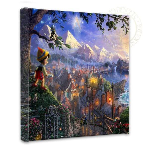 Pinocchio Wishes Upon A Star: Thomas Kinkade Disney Print