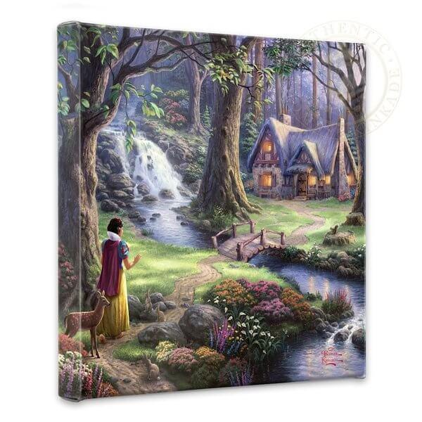 Snow White's Discovery: Thomas Kinkade Disney Print