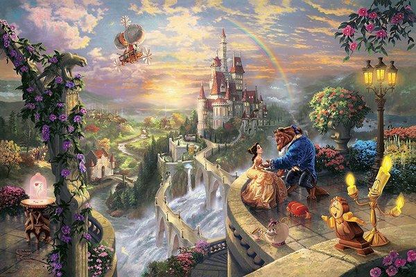Beauty and the Beast: Amazing Thomas Kinkade Disney Art
