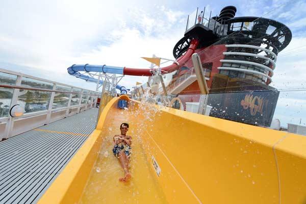 AquaDunk on Disney Magic Cruise Ship
