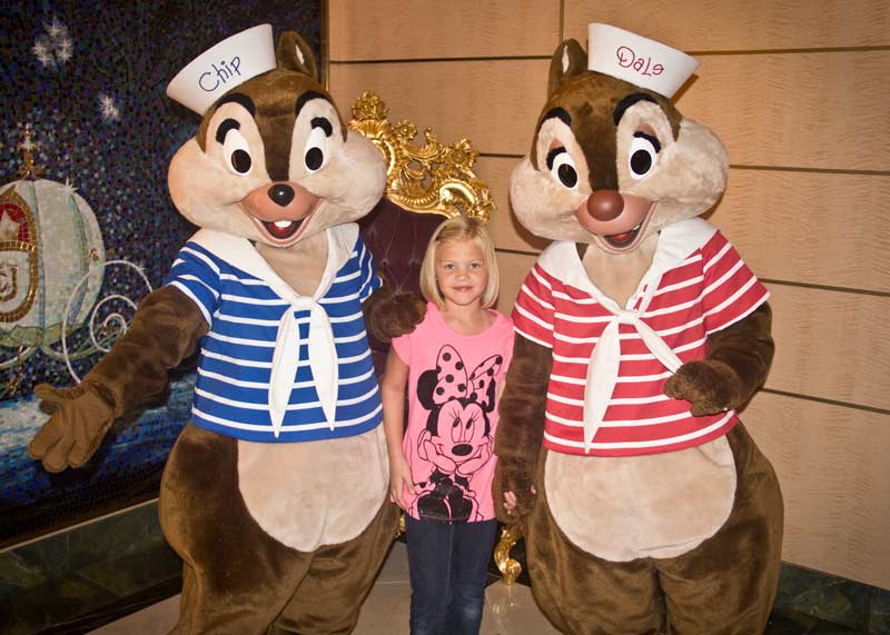 Meet and Greet Characters on Disney Wonder