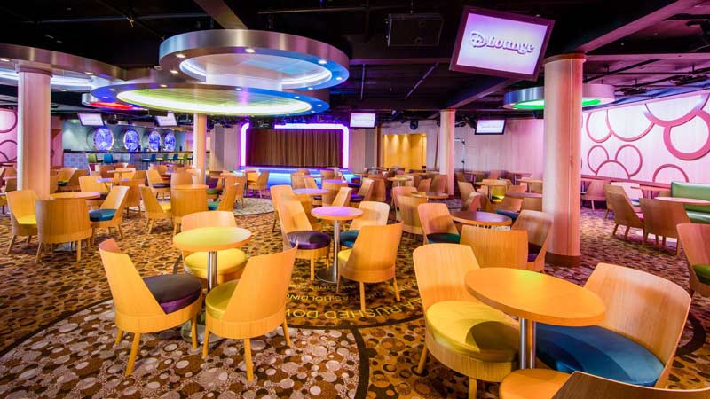 D Lounge on Disney Wonder Cruise Ship