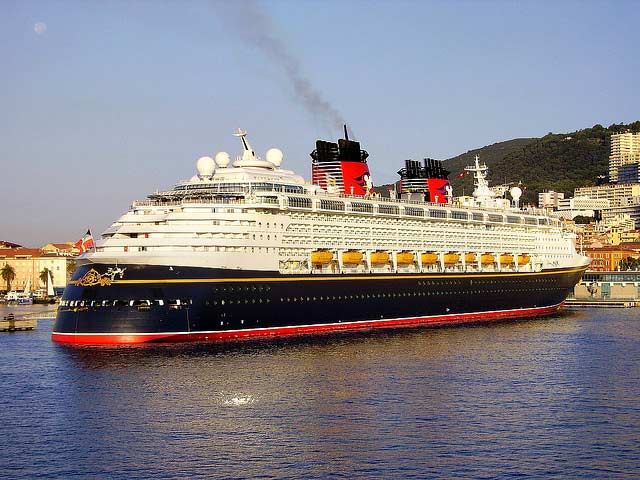 Disney Magic Cruise Ship in Port