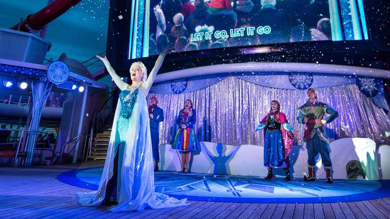 Frozen Deck Party on Disney Wonder Cruise Ship