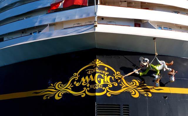 Disney Magic Cruise Ship Stern Goofy