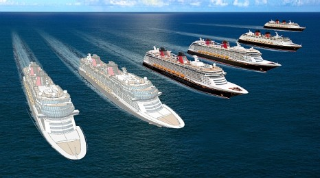 Meyer Werft rendering of two new Disney Cruise Ships