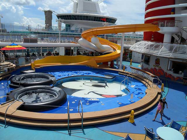 Mickey Pool on Disney Wonder
