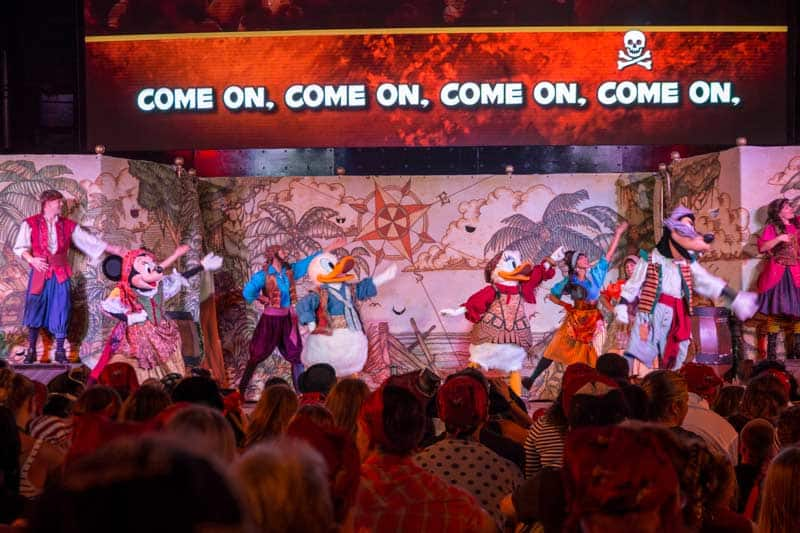 Disney Wonder: Pirate Night! See the shows and fireworks!