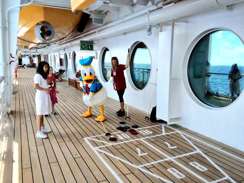 Shuffleboard on Disney Wonder Cruise Ship