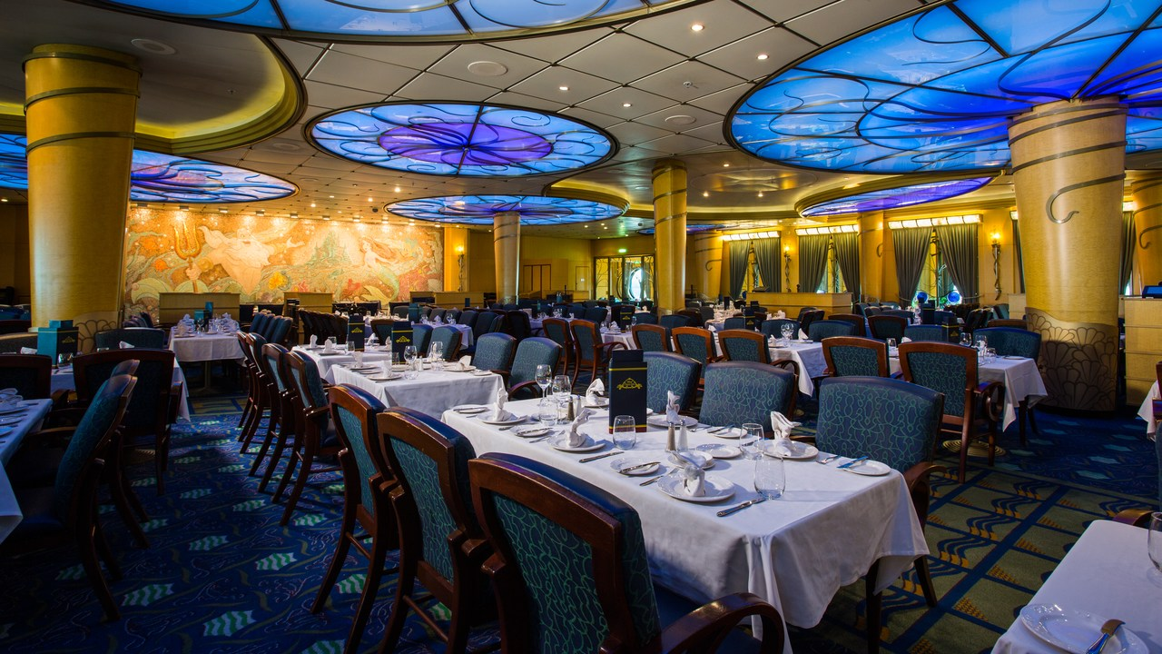 Triton's Restaurant on Disney Wonder Cruise Ship
