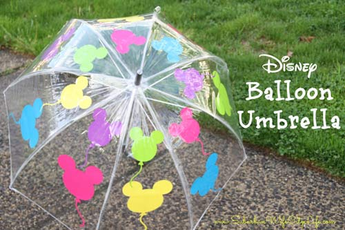 How to make a Disney balloon umbrella with Cricut