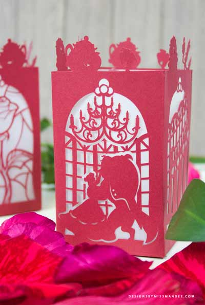 How to make a Beauty & the Beast Paper Lantern with Cricut