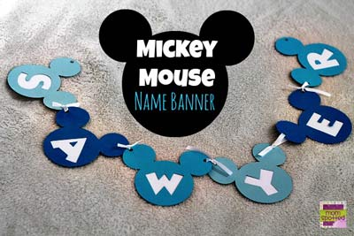 How to Make a Mickey Mouse Banner using Cricut