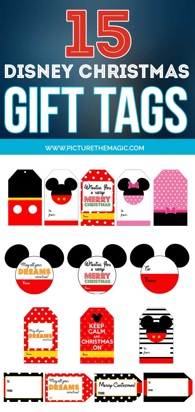 picture regarding Free Printable Disney Tickets named 15 Absolutely free Disney Present Tags: Down load 15 Editable Tags