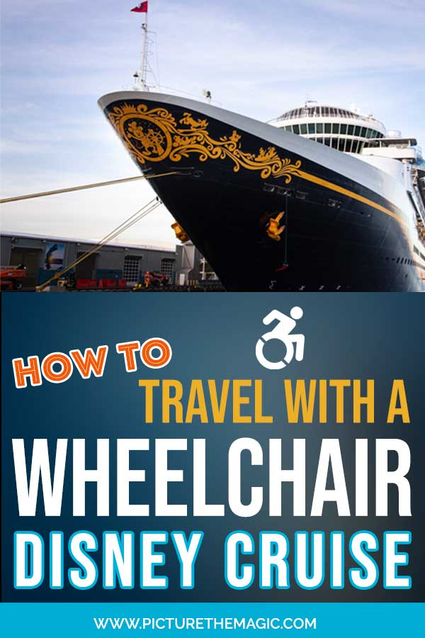 How to Travel with a Wheelchair on a Disney Cruise! #dcl #disneycruise #accessible #stateroom