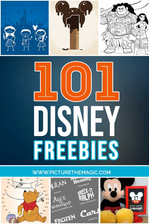 Over 100 Disney FREEBIES!  #disney #free #freebies