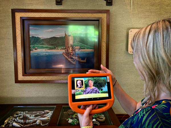 On iPad Menehune Adventure Trail at Aulani