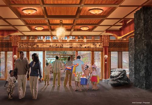 Concept Artwork for Aulani Resort