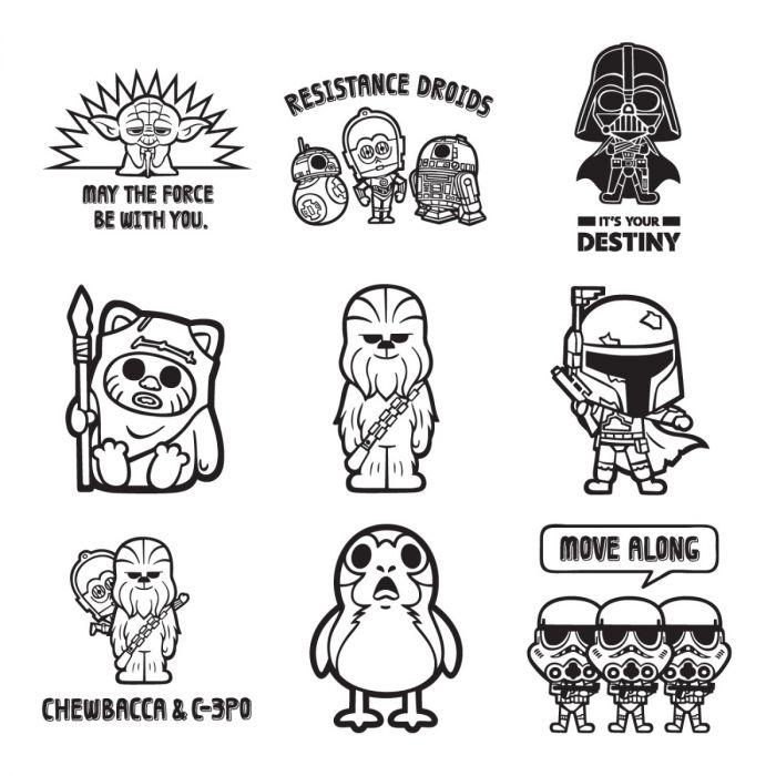 Star Wars Cricut Digital Image Set - Size Matters Not