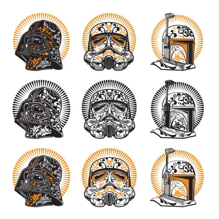 Digital Image Set, Star Wars - Halloween Sugar Skulls