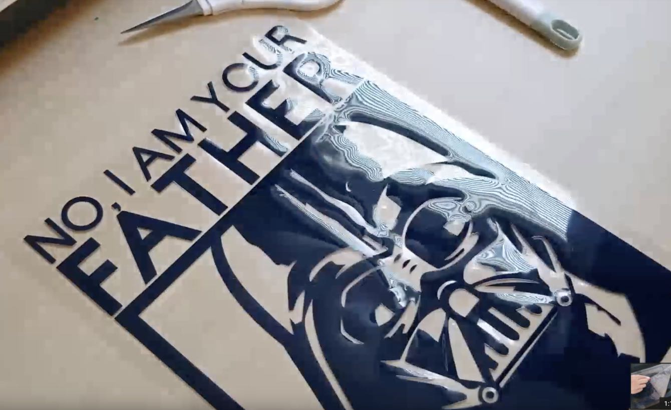 How to make a Darth Vader quote shirt in Cricut