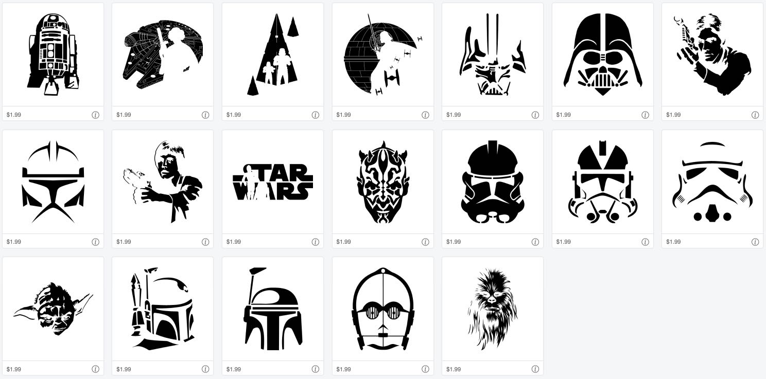 Iconic Characters! Star Wars Images for Cricut