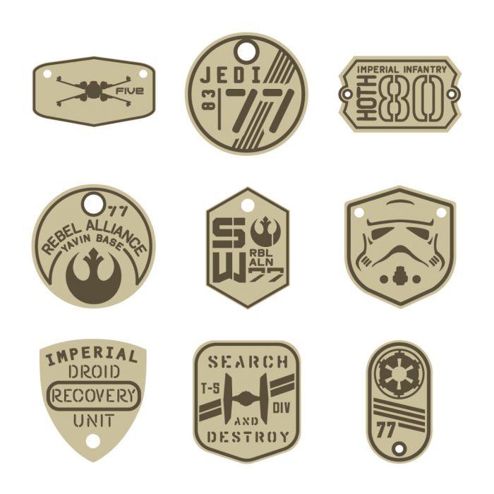 Star Wars Infantry Tags Digital Image Set for Cricut
