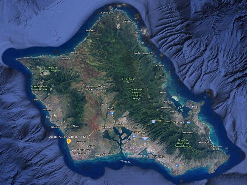 Leeward Side of Oahu: See the lush green on the windward side to compare