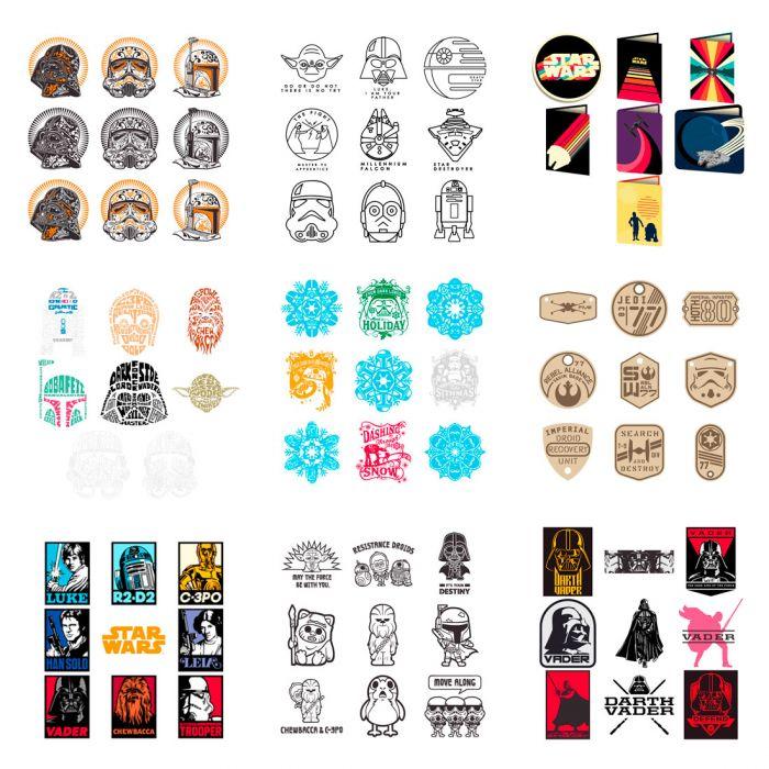 The Ultimate Star Wars Digital Image Bundle for Cricut!