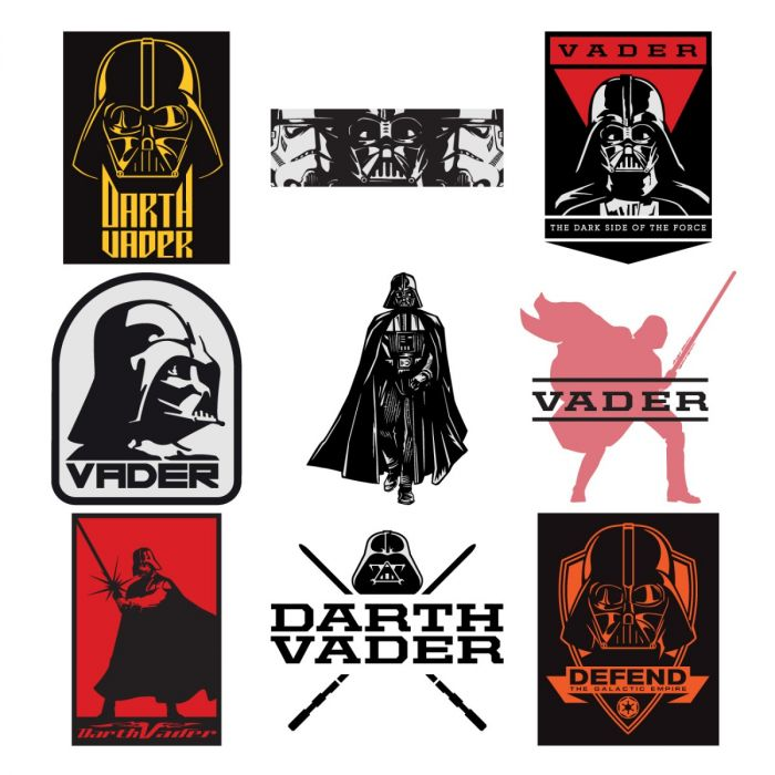 Darth Vader Digital Image Set for Cricut