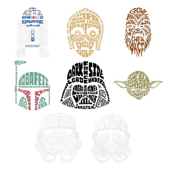 Digital Image Set, Star Wars™ - Typography Art