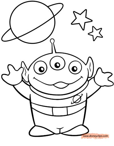 Alien Coloring Page from Toy Story