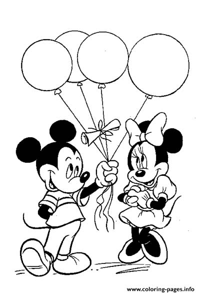 Mickey and Minnie Coloring Pages