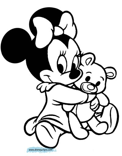 Baby Minnie Mouse Coloring Pages