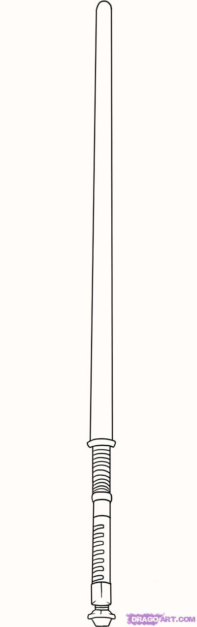 Lightsaber Coloring Pages