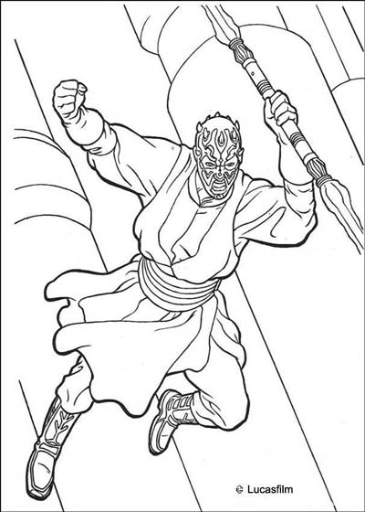 Darth Maul Coloring Pages