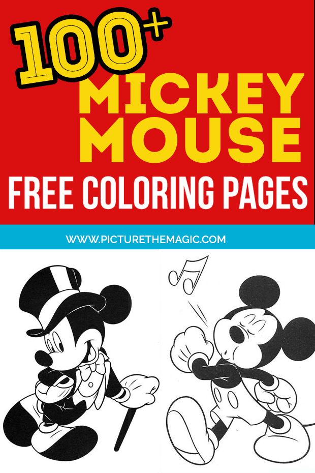 FUN! Over 100 free Mickey Mouse Coloring Pages. Free printable Mickey Mouse coloring sheets.