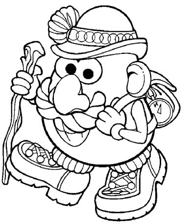 Mr.Potato Head Coloring Pages