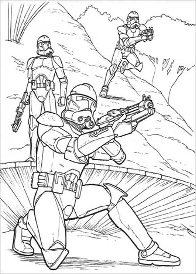 Clone Trooper Coloring Pages