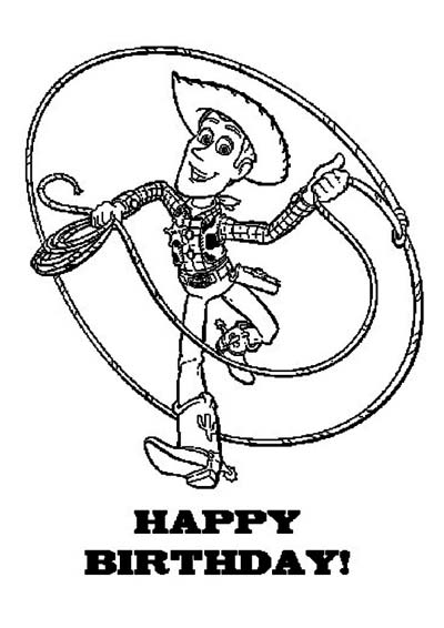 Woody from Toy Story 3 Coloring Pages