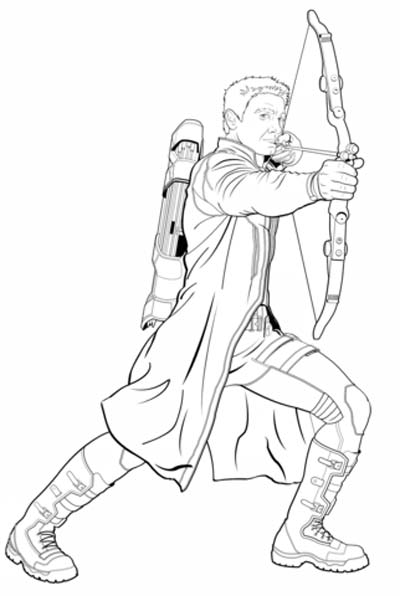 Hawkeye Coloring Pages