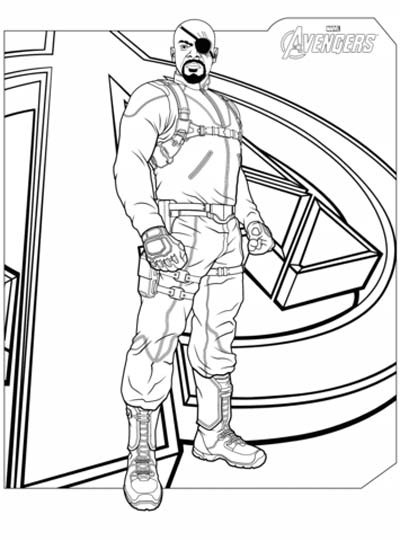 Nick Fury Coloring Pages