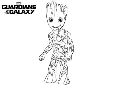 Baby Groot Coloring Pages
