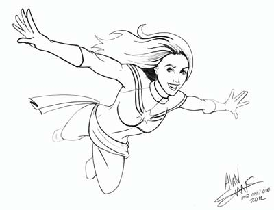 Captain Marvel Coloring Pages