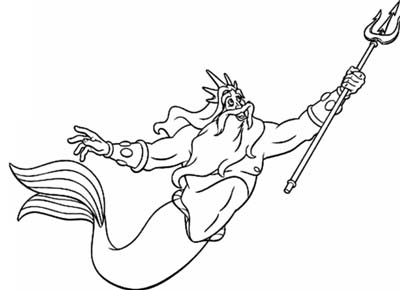 King Triton Coloring Pages