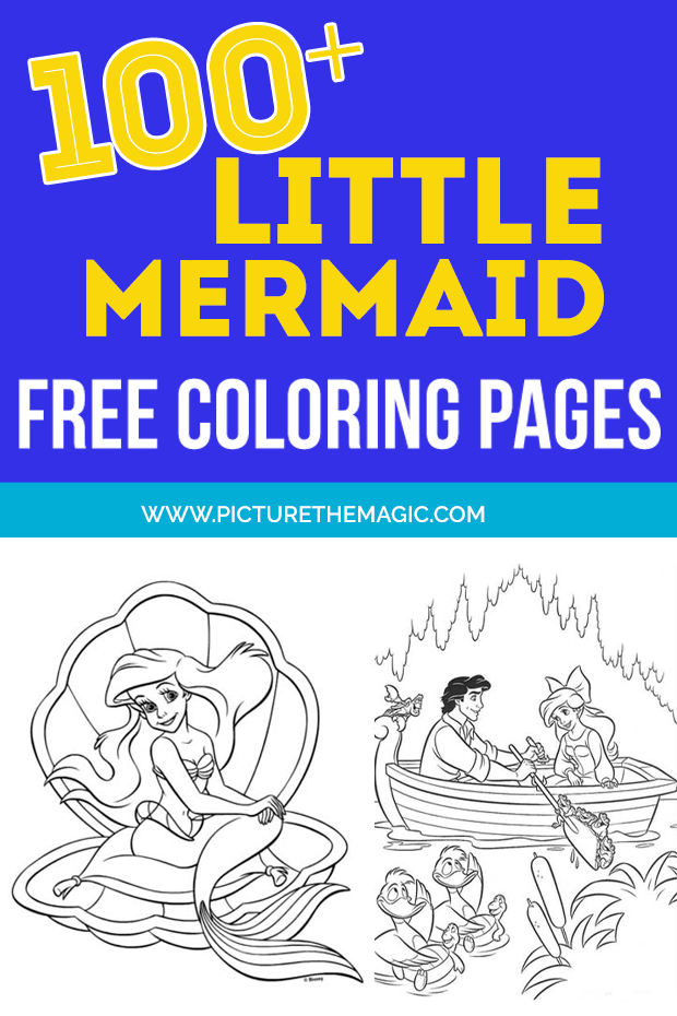 FUN! Over 100 free Little Mermaid Coloring Pages. Free printable Ariel coloring sheets.