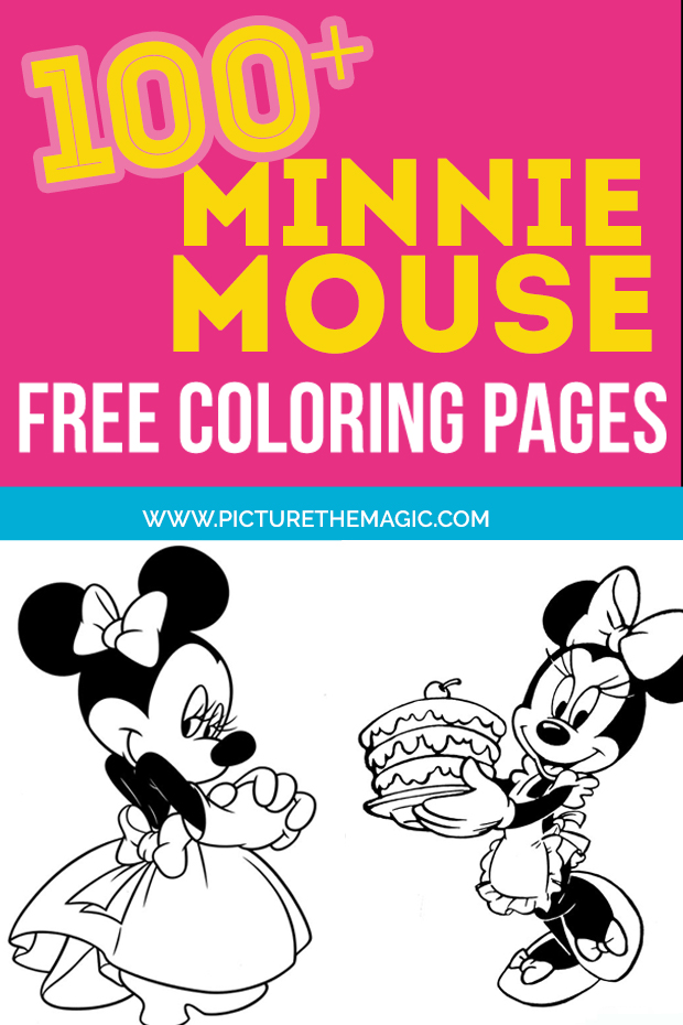 minnie mouse coloring pages 600x900 pinterest